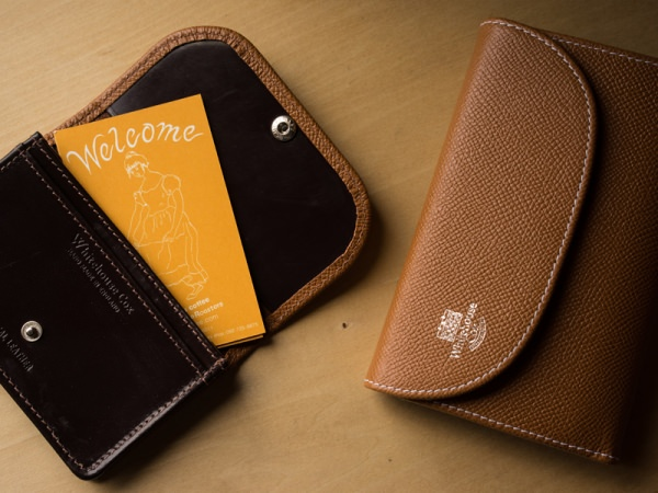 S7660 3FOLD WALLET / LONDONCALF × BRIDLE(BROWN/NAVY)