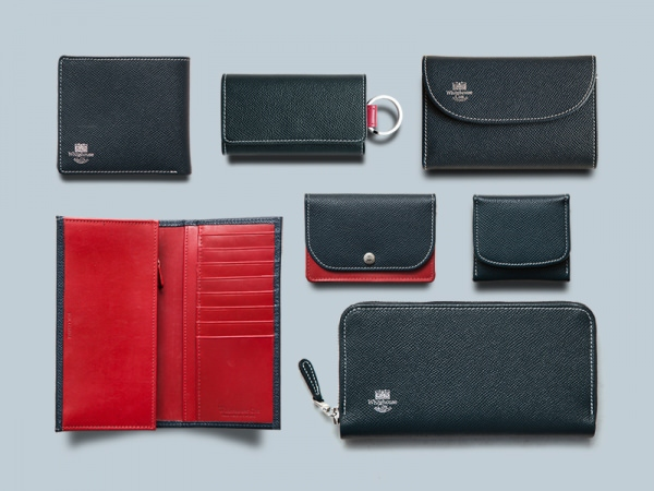 S7660 3FOLD WALLET / LONDONCALF × BRIDLE(NAVY/RED)
