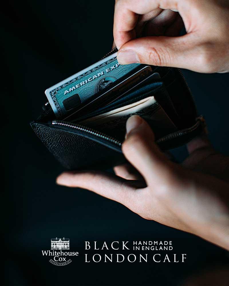 細かなシボを施した上品なロンドンカーフにオールブラックモデルが登場
