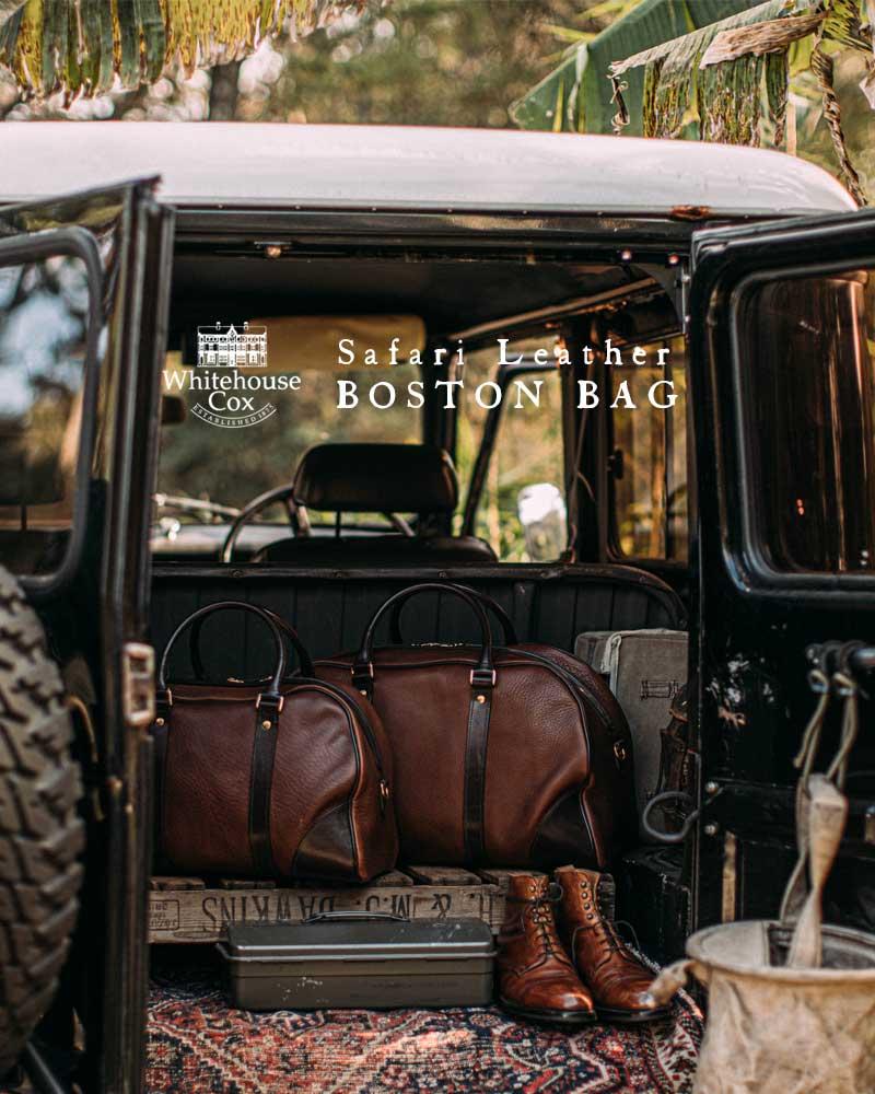 SAFARI LEATHER BOSTON BAG