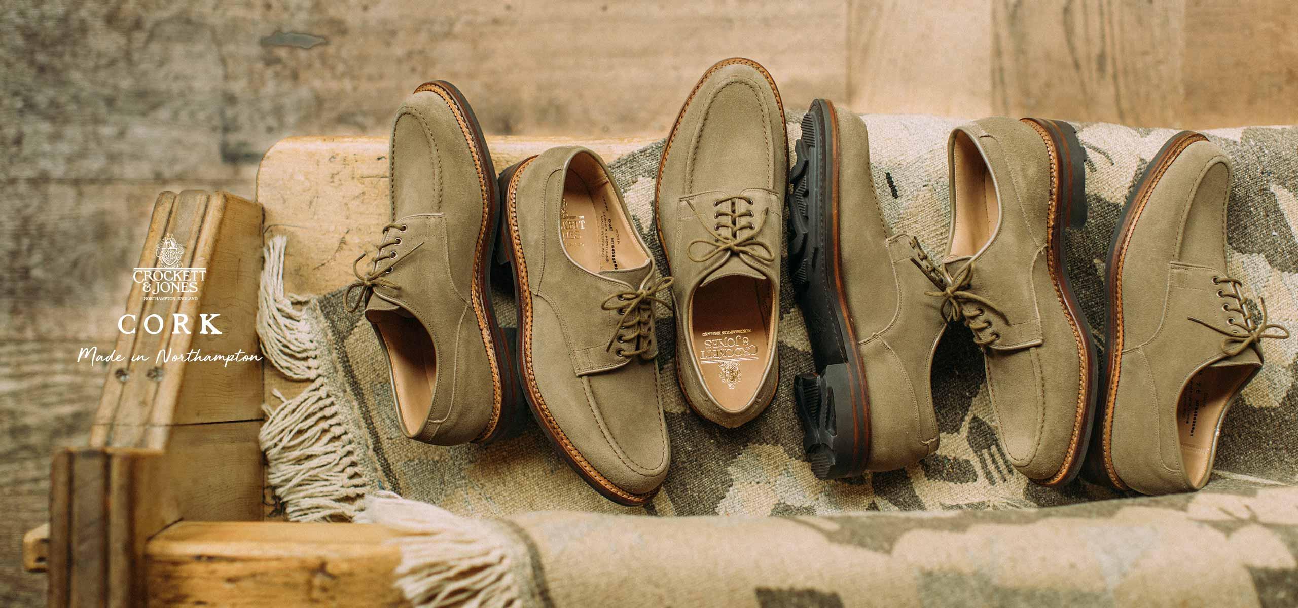 夏でも履きたいアースカラースエードのC&J