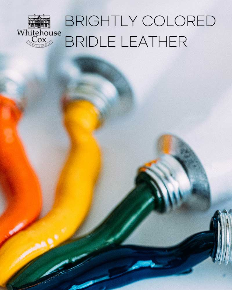 BRIGHTLY COLORED BRIDLE LEATHER -Whitehouse Cox-