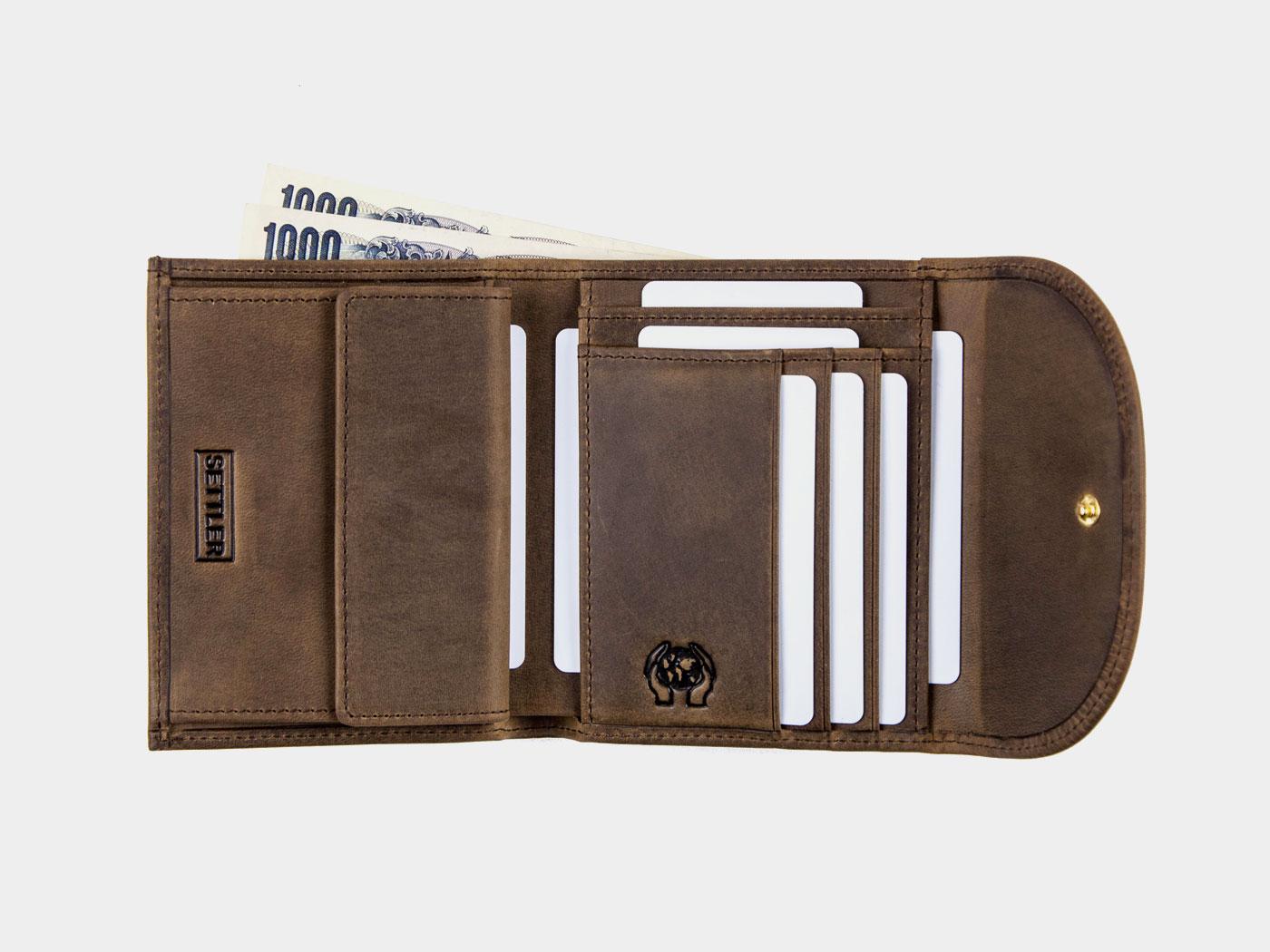 setller セトラー ow1058 small 3fold wallet 三つ折り財布 カウハイド