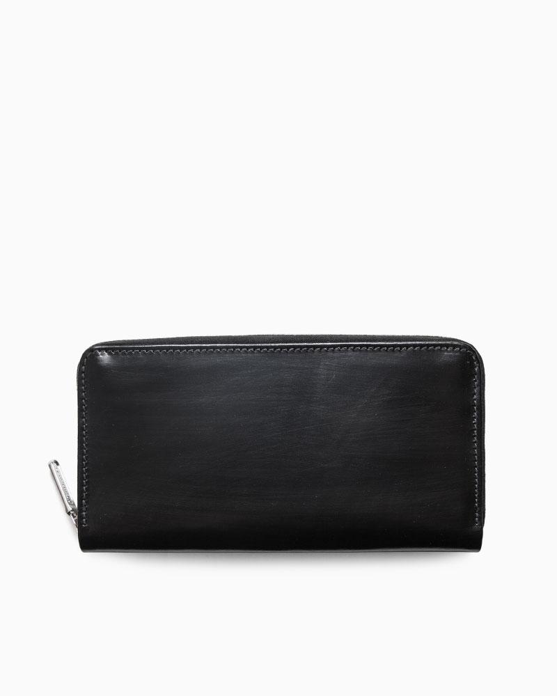 お金を引き寄せ守る黒い財布 Whitehouse Cox S2622 LONG ZIP WALLET