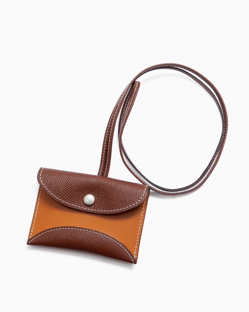 S3166 NECK POUCH for AirPods / LONDONCALF × BRIDLE